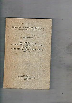 Bibliographia de Historia Societatis Iesu in Regnis: POLGAR Ladislaus.