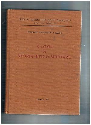 Saggi di storia etico-militare. Il servizio saniterio: DI LAURO Ferdinando.