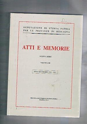 Atti e memorie della deputaz. di Storia: AA. VV.