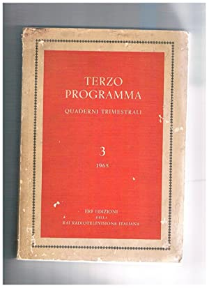 Terzo programma, quaderni trimestrali n° 3 1965,: LUPO Cesare direttore.