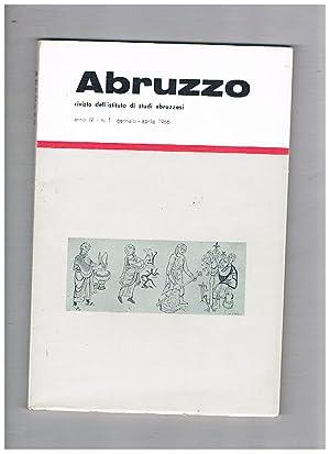 Abruzzo, rivista quadrimestrale dell'istituto di studi abruzzesi,: PARATORE Ettore direttore.