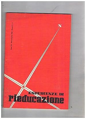 Esperienze di rieducazione n° 3-4 mar-apr. 1960.: RADAELLI Uberto direttore.