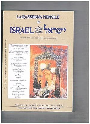 La rassegna mensile di Israel, periodico quadrimestrale: LUZZATTO Amos direttore.