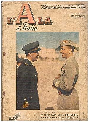 """L'Ala d'Italia """"la gazzetta dell'aviazione"""", qunidicinale dell'aviazione: NOSARI Adone direttore."""