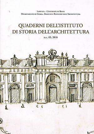 Quaderni di storia dell'architettura n.s. 65, 2016.: AA. VV.