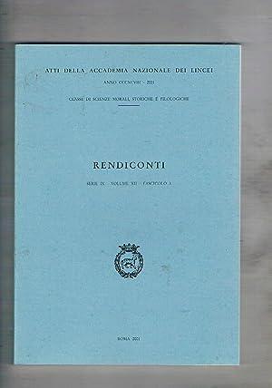 Rendiconti dell'accademia naz. dei Lincei serie IX: AA. VV.