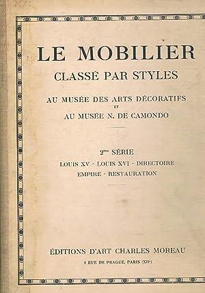 Le Mobilier classé par styles au musée
