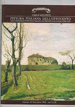 Pittura italiana dell'ottocento. Macchiaioli e postmacchiaioli di: Pitti aste.