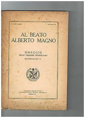 """Al Beato Alberto Magno omaggio delle """"Memorie"""