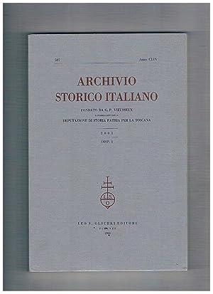 Archivio storico italiano, trimestrale fondato da G.: PINTO Giuliano direttore.