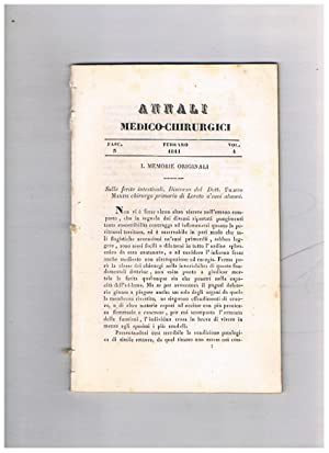 Annali medico-chirurgici, anno 1841, vol. 4, fasc.: METAXA' Telemaco, a