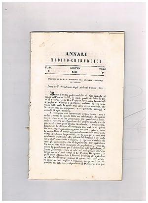 Annali medico-chirurgici, anno 1843, tomo 9, fasc.: METAXA' Telemaco, a
