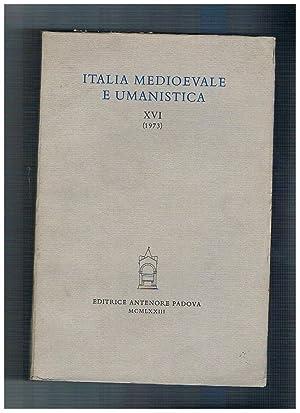 Italia medioevale e umanistica annata XVIa 1973.: BILLANOVICH G. CAMPANA
