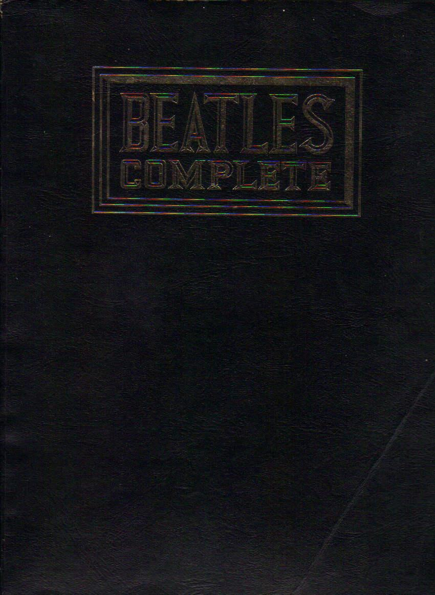 beatles complete musical scores words atv music publications black wraps eighth printing. Black Bedroom Furniture Sets. Home Design Ideas