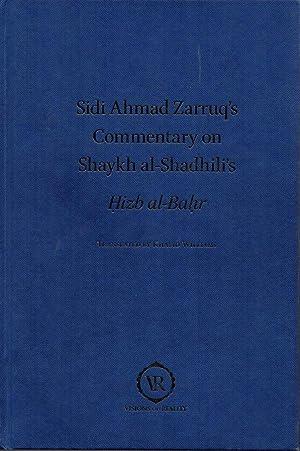 Commentary on the Hizb al-Bahr of Imam: Zarruq, Shaykh Ahmad;