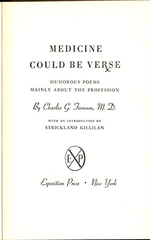 Medicine Could be Verse: Humorous Poems Mainly About the Profession