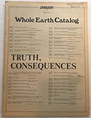 Whole Earth Catalog: January 1971 (Truth, Consequences)