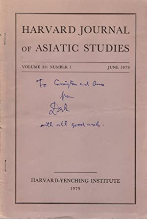 Harvard Journal of Asiatic Studies: June 1979; Volume 39, Number 1