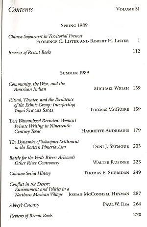 Journal of the Southwest: Volume 31, Number: Wilder, Joseph Carleton