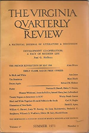 The Virginia Quarterly Review: A National Journal: Kohler, Charlotte (ed.)