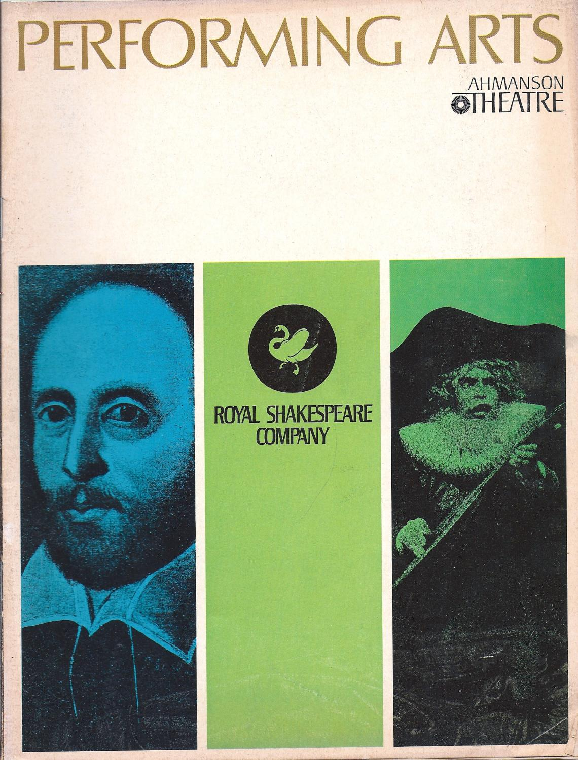 Performing Arts The Music Center Monthly Ahmanson Theatre February 1968 oversize