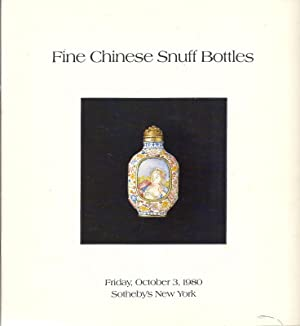 Fine Chinese Snuff Bottles October 3, 1980: Messrs. Sotheby