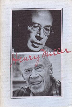 A Descriptive Catalogue of the Dr. James O'Roark Collection of the Works of Henry Miller