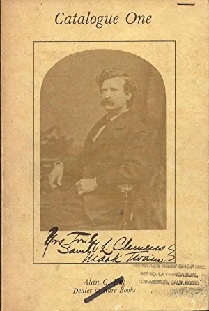Catalogue One, The Jim Williams Collection of Writings By and About Samuel Langhorn Clemens