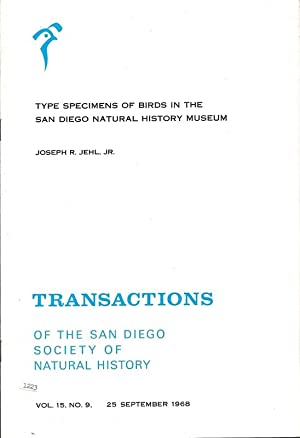 Transactions Of The San Diego Society Of Natural History