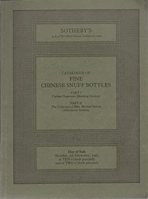 Catalogue of Fine Chinese Snuff Bottles in: Sotheby, Messrs. et