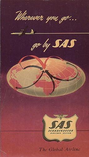 SAS Route Map Polar System Brochure 1957: Anonymous