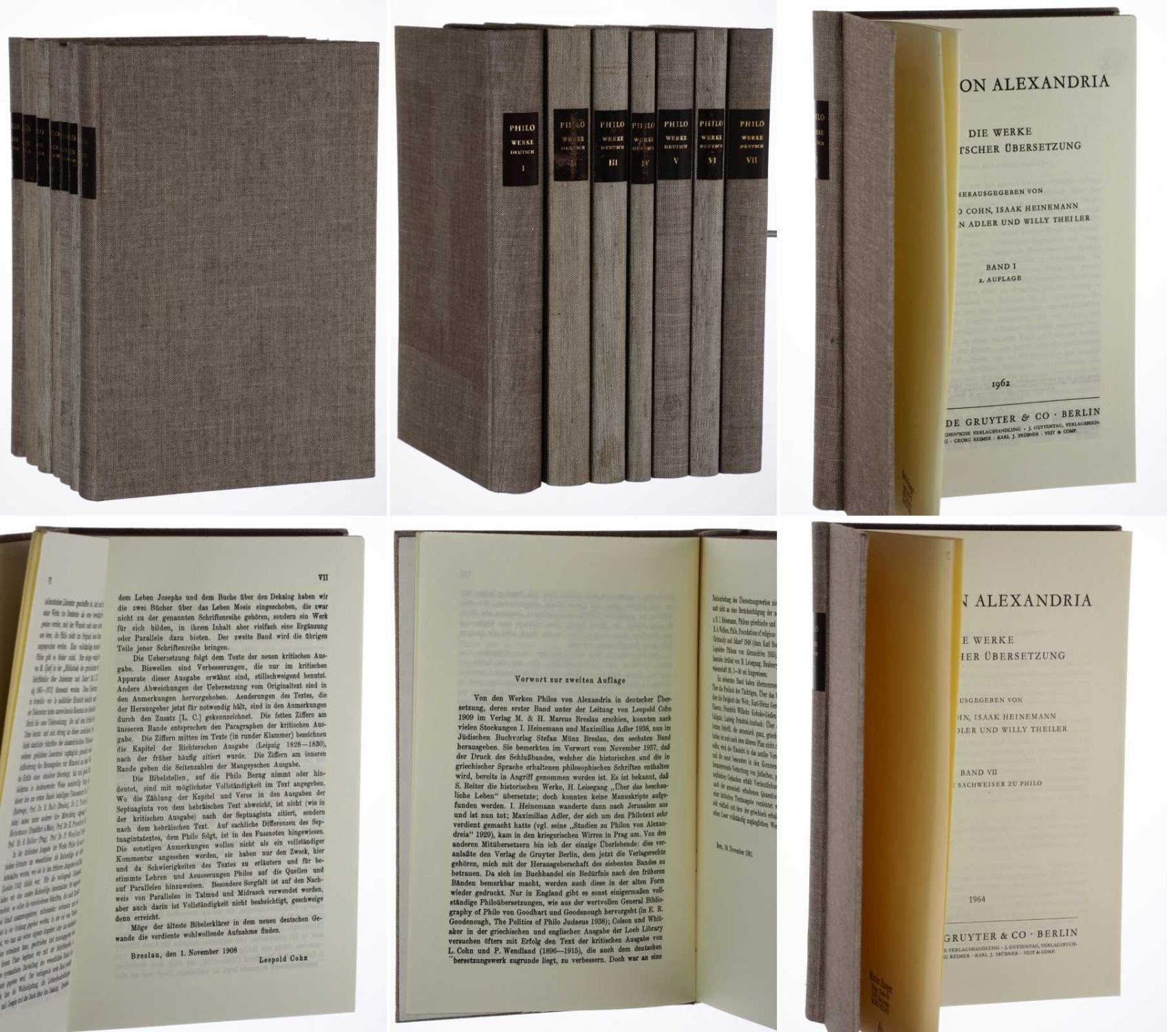 Die Werke in deutscher Übersetzung. 7 Bände: Philo von Alexandria: