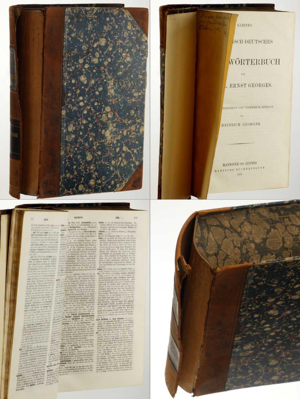 Kleines lateinisch-deutsches Handwörterbuch.: Georges, Karl Ernst: