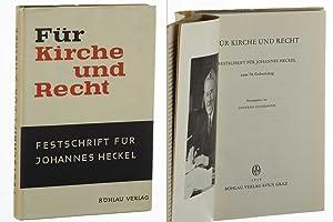 Für Kirche und Recht. Festschrift für Johannes
