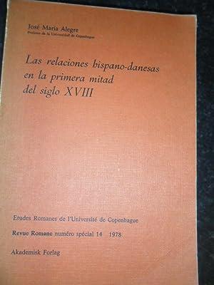 Las Relaciones Hispano-Danesas En La Primera Mitad: Alegre Jose Maria