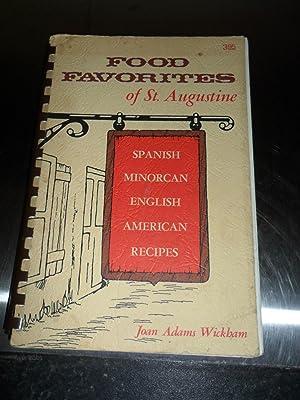 Food Favorites of St. Augustine: Wickham Joan Adams