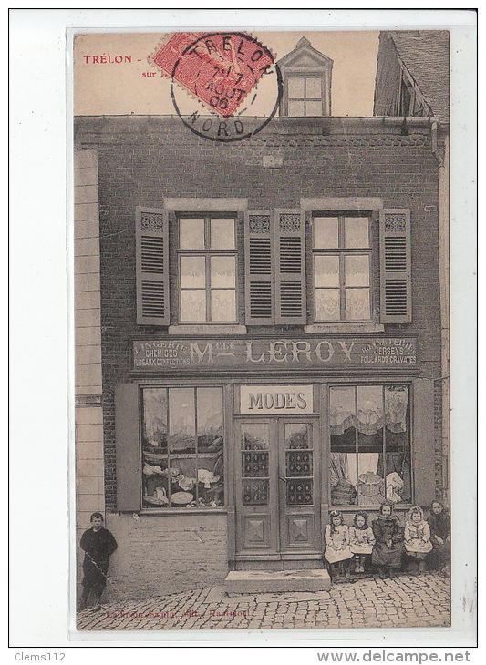 Carte postale ancienne TRELON : lingerie chemises Mll LEROY Carte postale ancienne TRELON : lingerie chemises Mll LEROY
