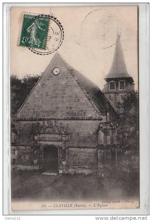 CLAVILLE ET ENVIRONS - Carte postale ancienne CLAVILLE