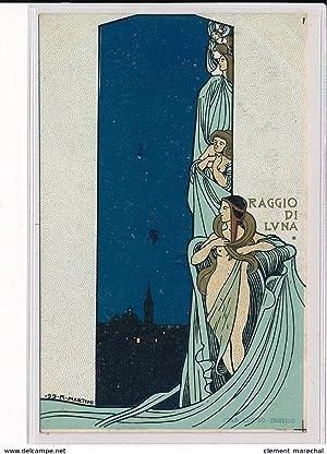 """Carte postale ancienne MARTINI Alberto - """"Raggio di Luna"""""""