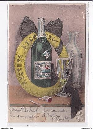 Carte postale ancienne ABSINTHE - ALCOOL : carte postale suisse contre l'interdiction de l'...