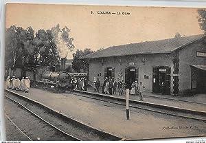 Carte postale ancienne ALGERIE : l'alma, la gare