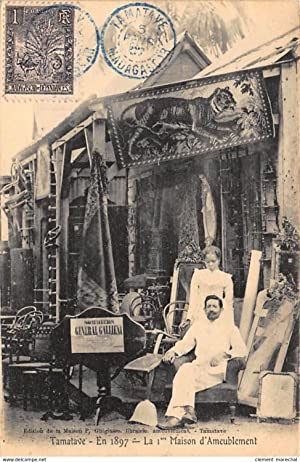 Carte postale ancienne MADAGASCAR : tamatave en 1897 la 1er maison d'ameublement