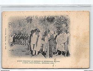 Carte postale ancienne SOUDAN : samory ecoutant