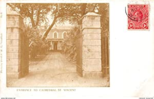Carte postale ancienne CARAIBES : entrance to cathedrale st-vincent