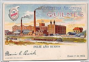 Carte postale ancienne ARGENTINE : cerveceria argentina quilmes feliz ano nuevo