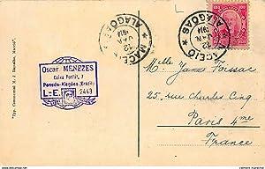 Carte postale ancienne BRESIL : piranhas, alagoas