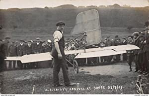 Carte postale ancienne ROYAUME-UNIS : m. bleriot arrival at dover 25/9/09, aviation