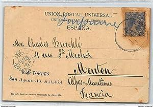 Carte postale ancienne ESPAGNE : malaga, en el paseo de la caleta