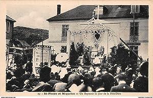 Carte postale ancienne St-PIERRE-et-MIQUELON : un reposoir le jour de la fete-dieu