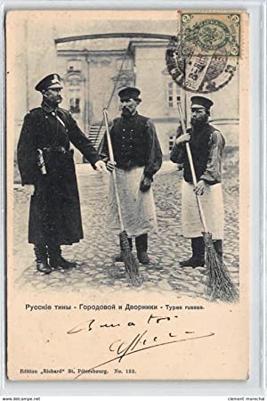 Carte postale ancienne RUSSIE : types russes